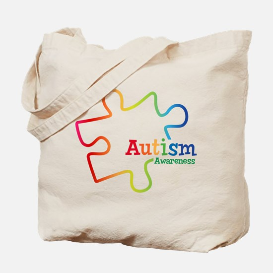 Rainbow Gradient Autism Tote Bag