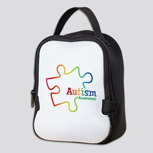 Rainbow Gradient Autism Neoprene Lunch Bag