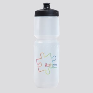 Rainbow Gradient Autism Sports Bottle