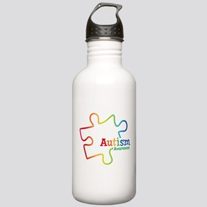 Rainbow Gradient Autis Stainless Water Bottle 1.0L
