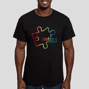 Rainbow Gradient Autis Men's Fitted T-Shirt (dark)