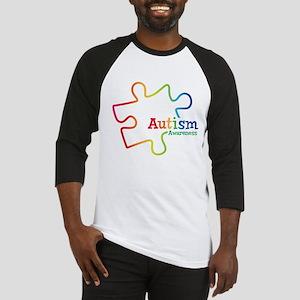Rainbow Gradient Autism Baseball Jersey