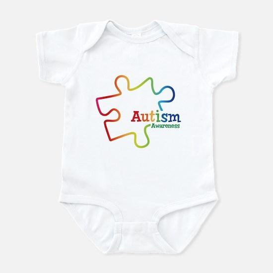 Rainbow Gradient Autism Infant Bodysuit