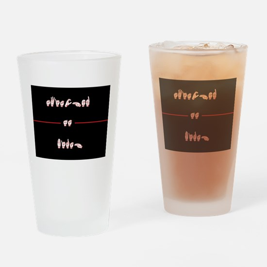 Switched at Birth Drinking Glass