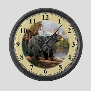 Black Bear Large Wall Clock