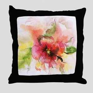 Flower, watercolor Throw Pillow