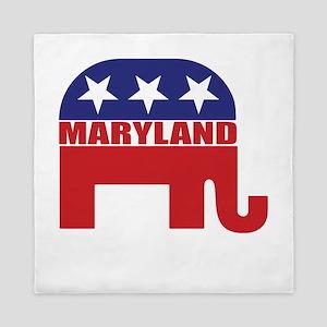 Maryland Republican Elephant Queen Duvet