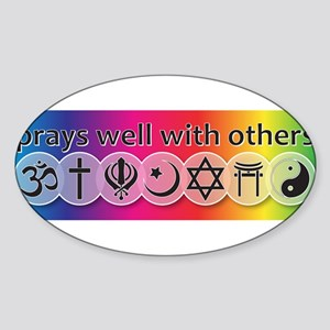 prays-well-with-others-bumper-sticker Sticker