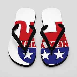 New York Republican Elephant Flip Flops