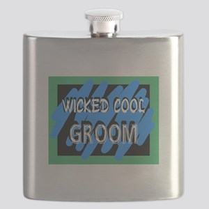 Wicked Cool Groom Flask