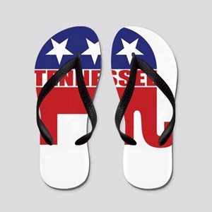 Tennessee Republican Elephant Flip Flops