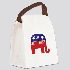 Tennessee Republican Elephant Canvas Lunch Bag