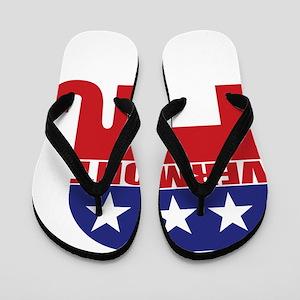 Vermont Republican Elephant Flip Flops