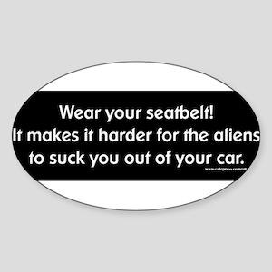 seatbelt-aliens Sticker