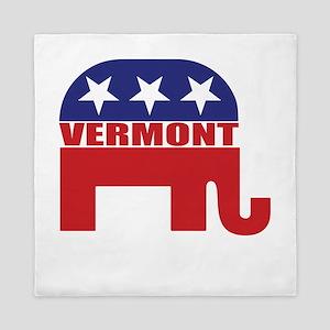 Vermont Republican Elephant Queen Duvet