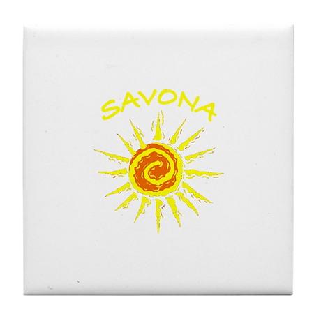 Savona, Italy Tile Coaster
