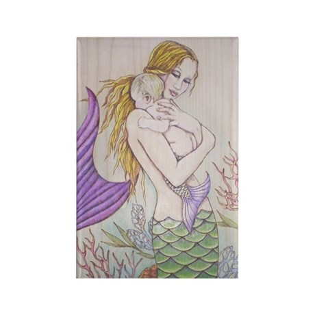 Motherhood Mermaid Rectangle Magnet