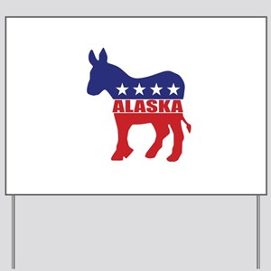 Alaska Democrat Donkey Yard Sign