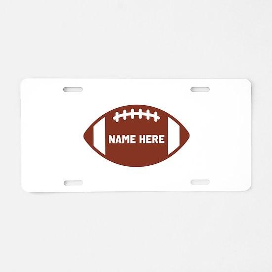 Customize a Football Aluminum License Plate