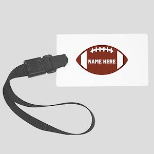 Customize a Football Luggage Tag
