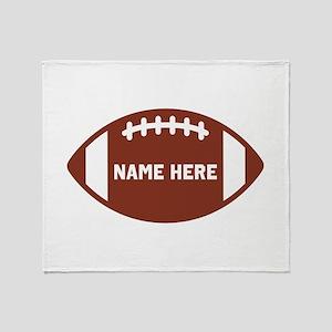 Customize a Football Throw Blanket