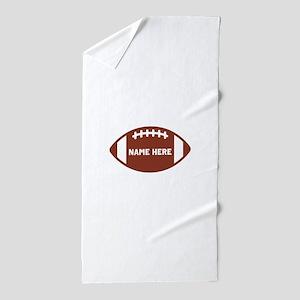 Customize a Football Beach Towel