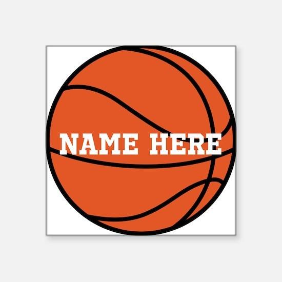 Customize a Basketball Sticker