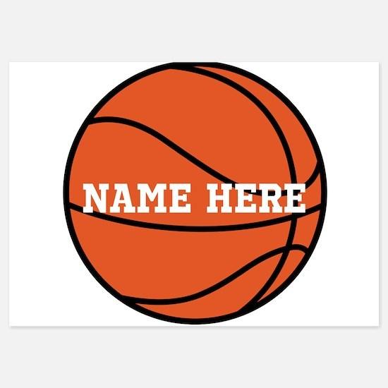 Customize a Basketball Invitations