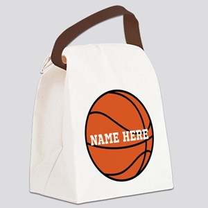 Customize a Basketball Canvas Lunch Bag