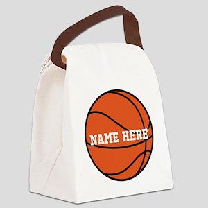 Customize a Basketball Canvas Lunch Bag