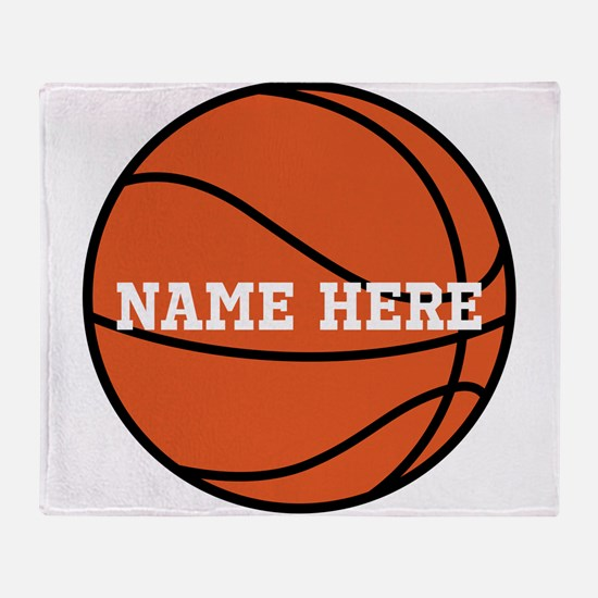 Customize a Basketball Throw Blanket