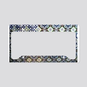 Mexican Talavera Tile design License Plate Holder