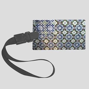 Mexican Talavera Tile design Luggage Tag