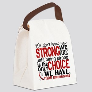 MDS How Strong We Are Canvas Lunch Bag