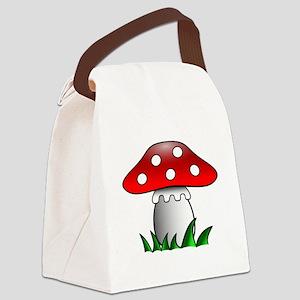 Cartoon Mushroom Canvas Lunch Bag