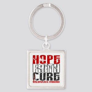 MDS Hope Faith Cure Square Keychain