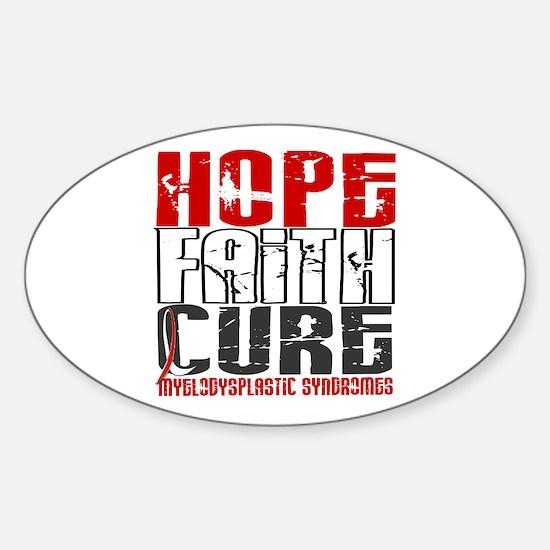 MDS Hope Faith Cure Sticker (Oval)