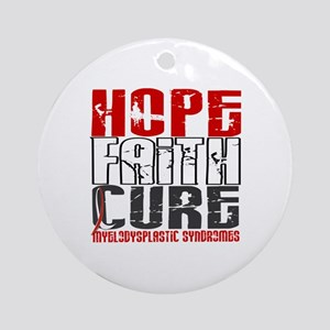 MDS Hope Faith Cure Ornament (Round)