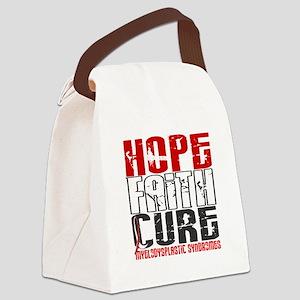 MDS Hope Faith Cure Canvas Lunch Bag