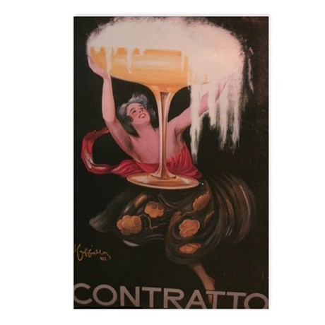 Contratto 1922 Advertisem Postcards (Package of 8)