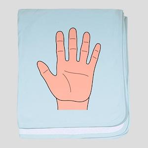 Left Hand baby blanket