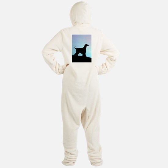 afghan blue sunset tall.png Footed Pajamas