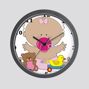 Baby, Duck, and Teddy Wall Clock