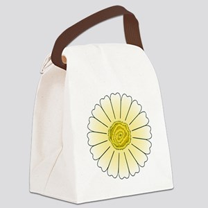 Yellow Daisy Canvas Lunch Bag