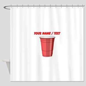 Custom Red Plastic Cup Shower Curtain