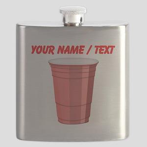 Custom Red Plastic Cup Flask