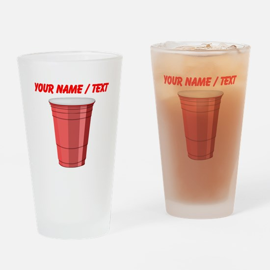 Custom Red Plastic Cup Drinking Glass