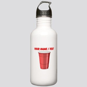 Custom Red Plastic Cup Water Bottle