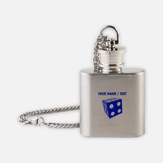 Custom Blue Dice Flask Necklace