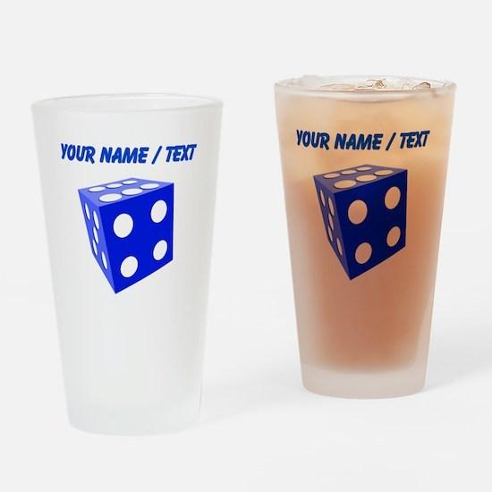 Custom Blue Dice Drinking Glass